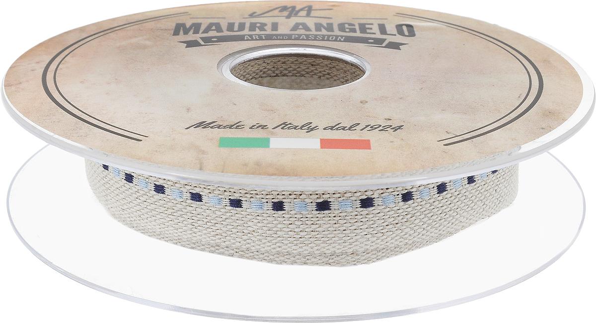 Лента декоративная Mauri Angelo, цвет: бежевый, синий, голубой, 2 см х 10 мMRTRA/20/4_бежевый, синий, голубойДекоративная лента Mauri Angelo - текстильное изделие, которое применяется для отделки одежды, а также в оформлении интерьера, декоративных панно, скатертей, тюлей, покрывал. Декоративная лента Mauri Angelo станет незаменимым элементом в создании рукотворного шедевра. Ширина: 2 см.Длина: 10 м.