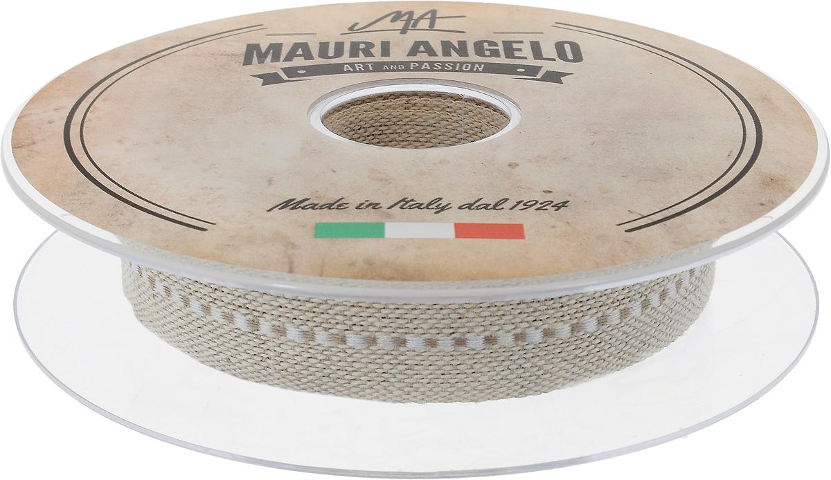 Лента декоративная Mauri Angelo, цвет: бежевый, белый, 2 см х 10 мMRTRA/20/1_бежевый, белыйДекоративная лента Mauri Angelo - текстильное изделие, которое применяется для отделки одежды, а также в оформлении интерьера, декоративных панно, скатертей, тюлей, покрывал. Декоративная лента Mauri Angelo станет незаменимым элементом в создании рукотворного шедевра. Ширина: 2 см.Длина: 10 м.