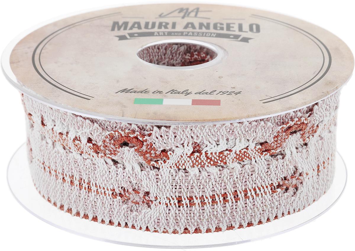 Лента кружевная Mauri Angelo, цвет: розовый, оранжевый, белый, 4,6 см х 10 мMR3509/PPT/NA2_розовый, оранжевый, белыйДекоративная кружевная лента Mauri Angelo - текстильное изделие без тканой основы, в котором ажурный орнамент и изображения образуются в результате переплетения нитей. Кружево применяется для отделки одежды, белья в виде окаймления или вставок, а также в оформлении интерьера, декоративных панно, скатертей, тюлей, покрывал. Главные особенности кружева - воздушность, тонкость, эластичность, узорность.Декоративная кружевная лента Mauri Angelo станет незаменимым элементом в создании рукотворного шедевра. Ширина: 4,6 см.Длина: 10 м.