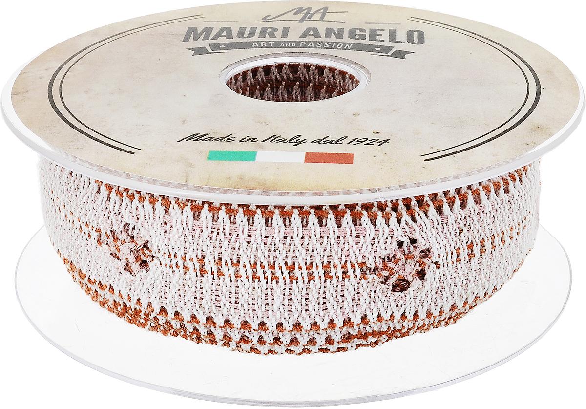 Лента кружевная Mauri Angelo, цвет: белый, оранжевый, розовый, 2,8 см х 10 мMR2626/PPT/NA2_белый, оранжевый, розовыйДекоративная кружевная лента Mauri Angelo - текстильное изделие без тканой основы, в котором ажурный орнамент и изображения образуются в результате переплетения нитей. Кружево применяется для отделки одежды, белья в виде окаймления или вставок, а также в оформлении интерьера, декоративных панно, скатертей, тюлей, покрывал. Главные особенности кружева - воздушность, тонкость, эластичность, узорность.Декоративная кружевная лента Mauri Angelo станет незаменимым элементом в создании рукотворного шедевра. Ширина: 2,8 см.Длина: 10 м.