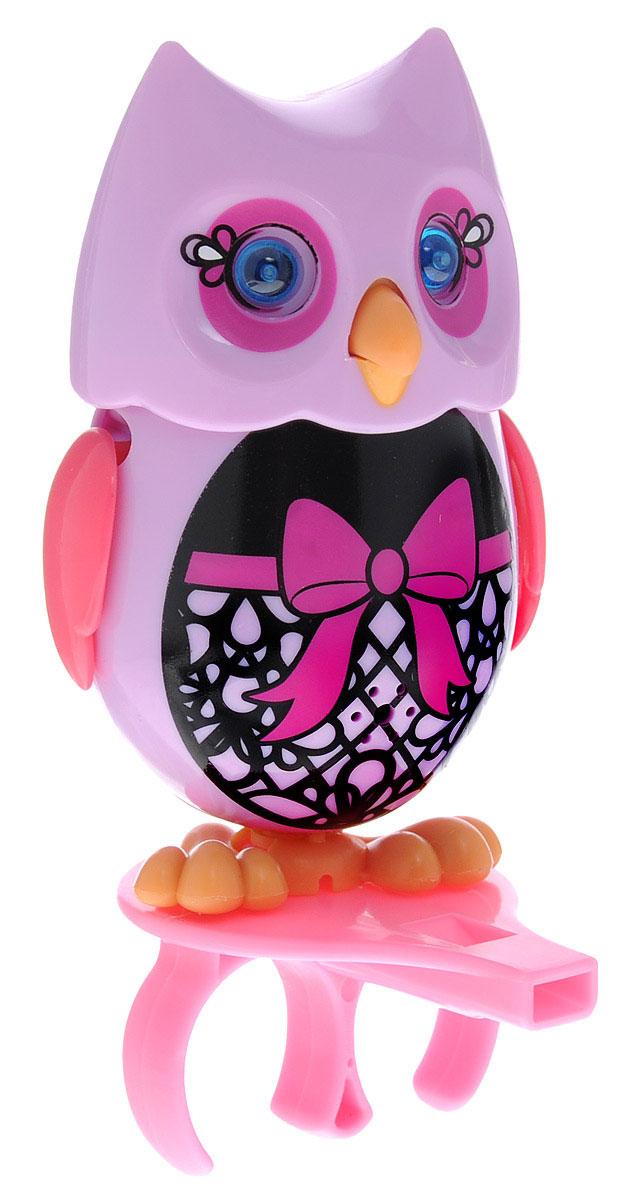 DigiFriends Интерактивная игрушка Сова с кольцом цвет сиреневый черный розовый digifriends интерактивная игрушка пингвин с кольцом цвет фиолетовый