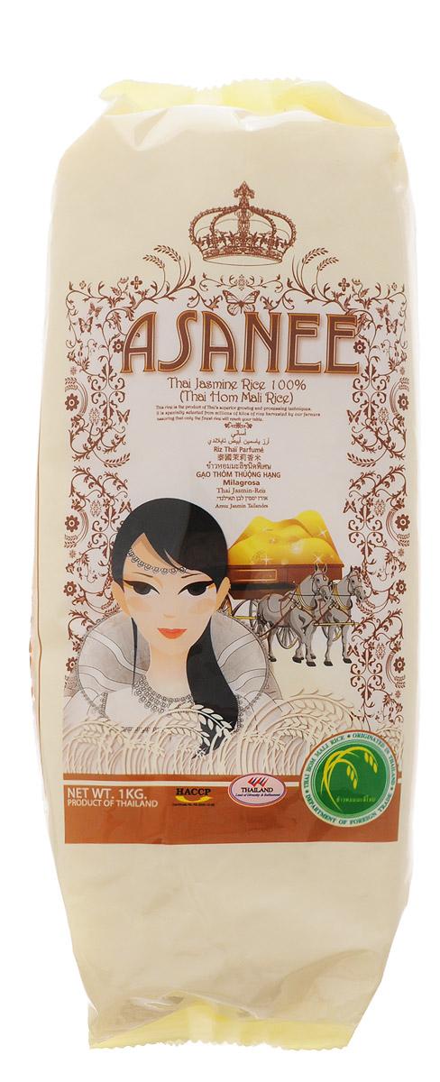 Asanee рис тайский жасминовый, 1 кг8855912000516Тайский жасминовый рис получил популярность во всем мире как самый благоухающий и ароматный сорт. Его официальное название Thai Hom Mali (Тай Хом Мали). Этот рис обладает таким нежным и ароматным вкусом, что его принято подавать на стол как самостоятельное блюдо.Тайский жасминовый рис Asanee не содержит глютена. Он является гипоаллергенным и диетическим продуктом. При варке зерна риса сохраняют идеальную форму и становятся белоснежными. Рис является источником растительного белка. Он помогает стабилизировать пищеварительные процессы и укрепляет желудок.