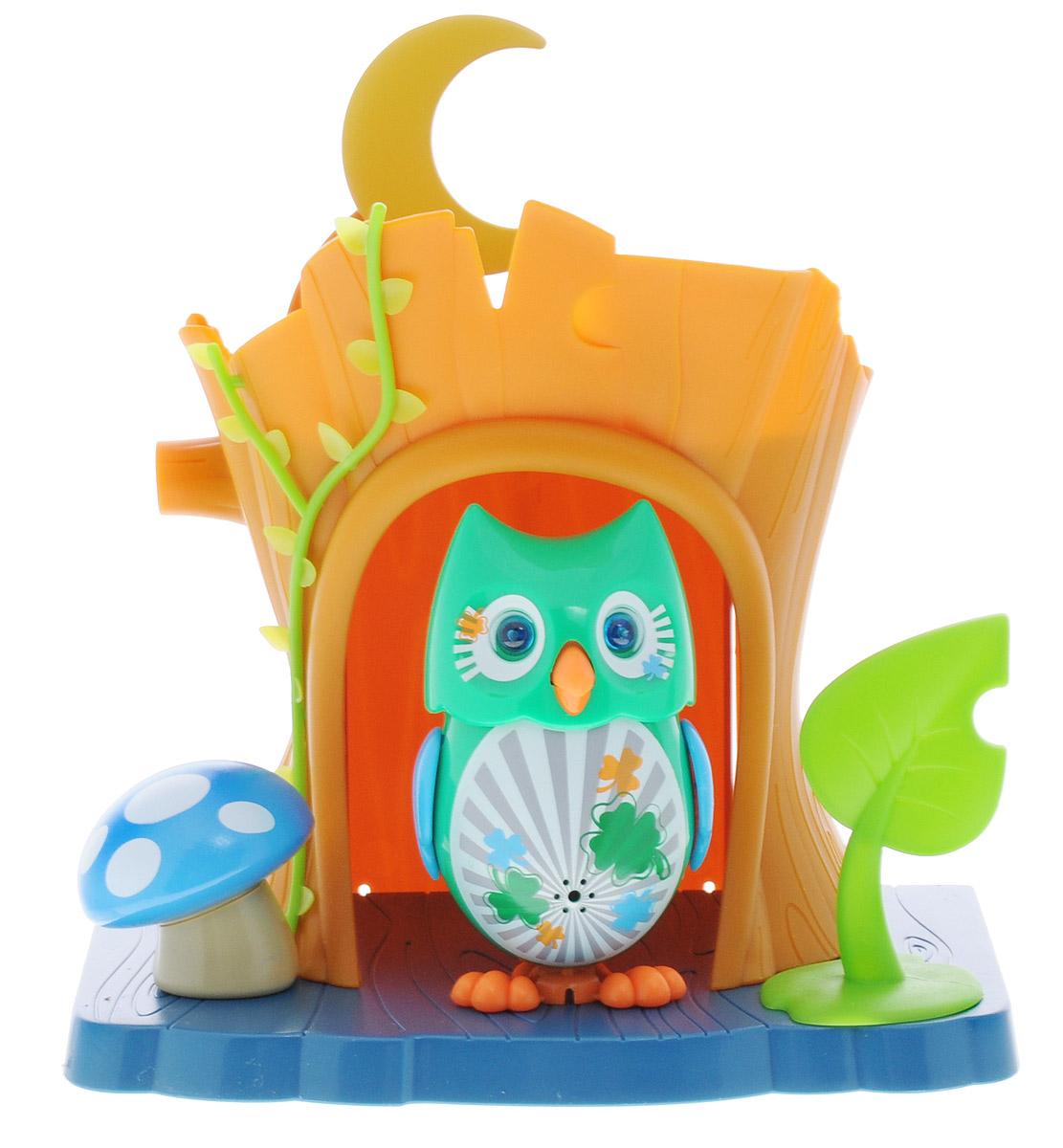 DigiFriends Интерактивная игрушка Сова Lucky с домиком интерактивная игрушка digifriends аква крокодил в ассортименте