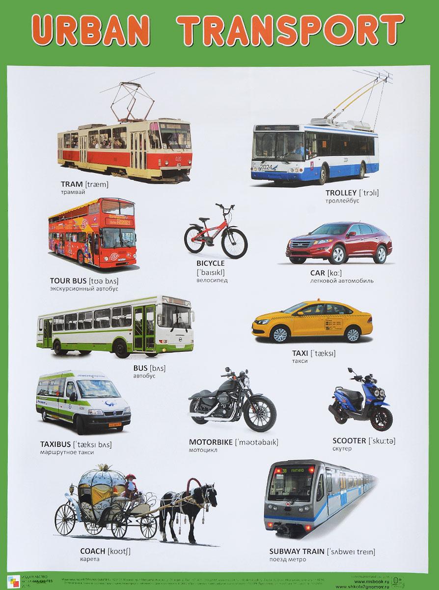 Urban Transport / Городской транспорт. Плакат машины majorette городской автобус
