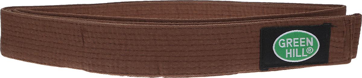 Пояс для карате Green Hill, цвет: коричневый. G-1014F. Размер 280G-1014FПояс для карате Green Hill - универсальный пояс для кимоно. Пояс выполнен из плотного хлопкового материала с многорядной прострочкой. Модель дополнена текстильной нашивкой с названием бренда.