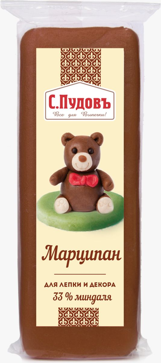 Пудовъ марципан коричневый, 100 г пудовъ мука ржаная обдирная 1 кг
