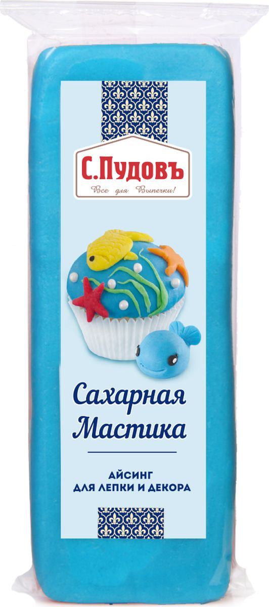 Пудовъ мастика сахарная синяя, 100 г пудовъ мука ржаная обдирная 1 кг