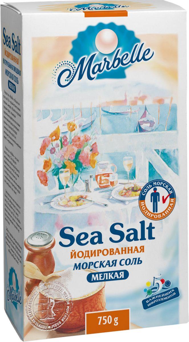 где купить Marbellе морская соль йодированная мелкая, 750 г по лучшей цене