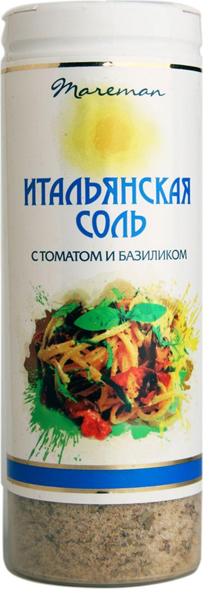 Mareman соль Итальянская, 140 г4607012294647Ароматная соль премиум качества с традиционным для Италии сочетанием приправ и пряностей. Соль упакована в пластиковые солонки с удобной крышкой-дозатором, легко использовать для пищи во время приготовления и за столом. Морская соль ТМ Mareman Итальянская придаст потрясающий вкус и наполнит блюда изысканным ароматом.