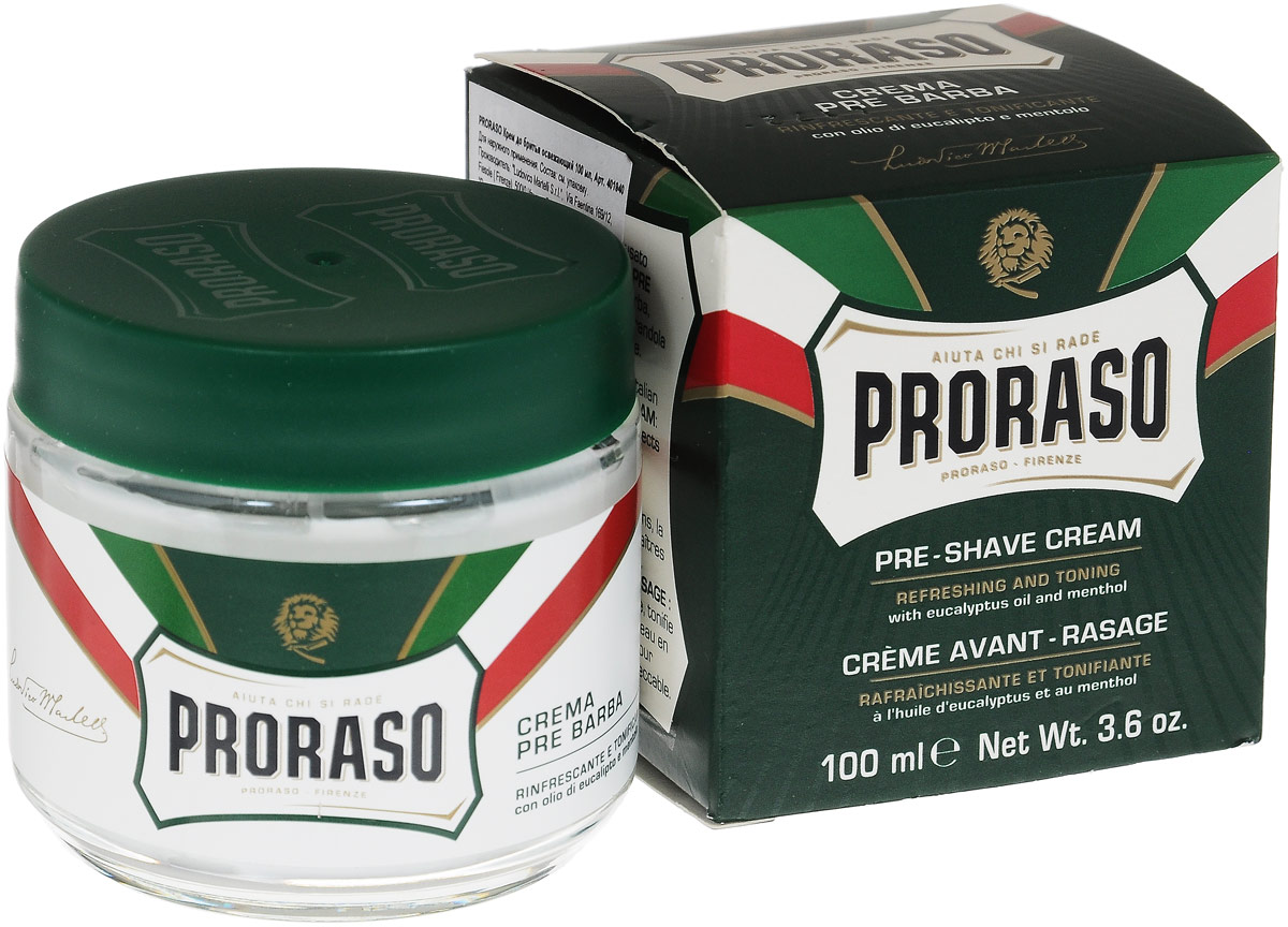 Proraso Крем до бритья освежающий 100 мл для бритья proraso pre shave cream sensitive skin formula объем 100 мл