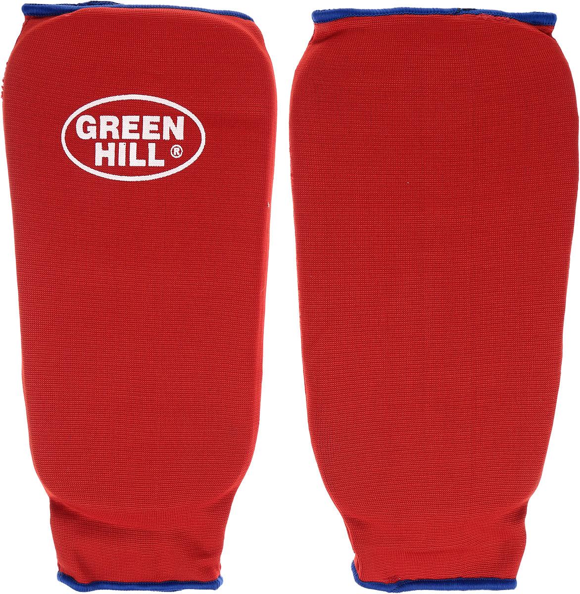 Защита голени Green Hill, цвет: красный, синий. Размер M. SPC-6210SPC-6210Защита голени Green Hill с наполнителем, выполненным из вспененного полимера, необходима при занятиях спортом для защиты суставов от вывихов, ушибов и прочих повреждений. Накладки выполнены из высококачественного эластана и хлопка.Длина голени: 26 см.Ширина голени: 14 см.