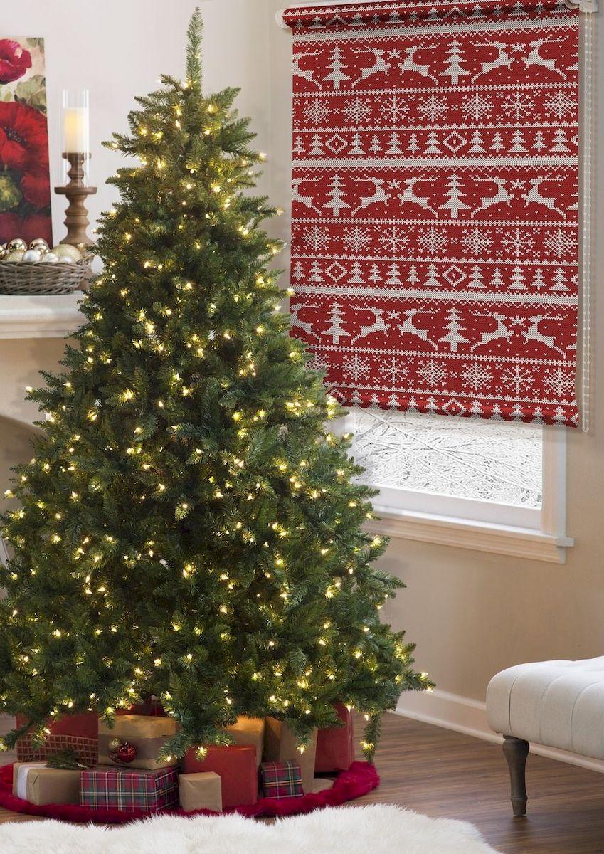 Штора рулонная Эскар Миниролло. Blackout, рисунок: Рождество, ширина 130 см, высота 170 см