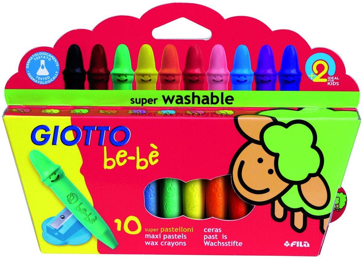 Giotto Восковые мелки Be-Be с точилкой 10 цветов карандаши цветные be be 12 цветов с точилкой 466500