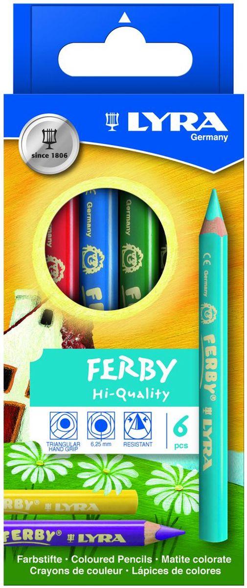 Lyra Набор цветных карандашей Super Ferby 6 шт L3621060 lyra набор цветных карандашей super ferby 6 шт