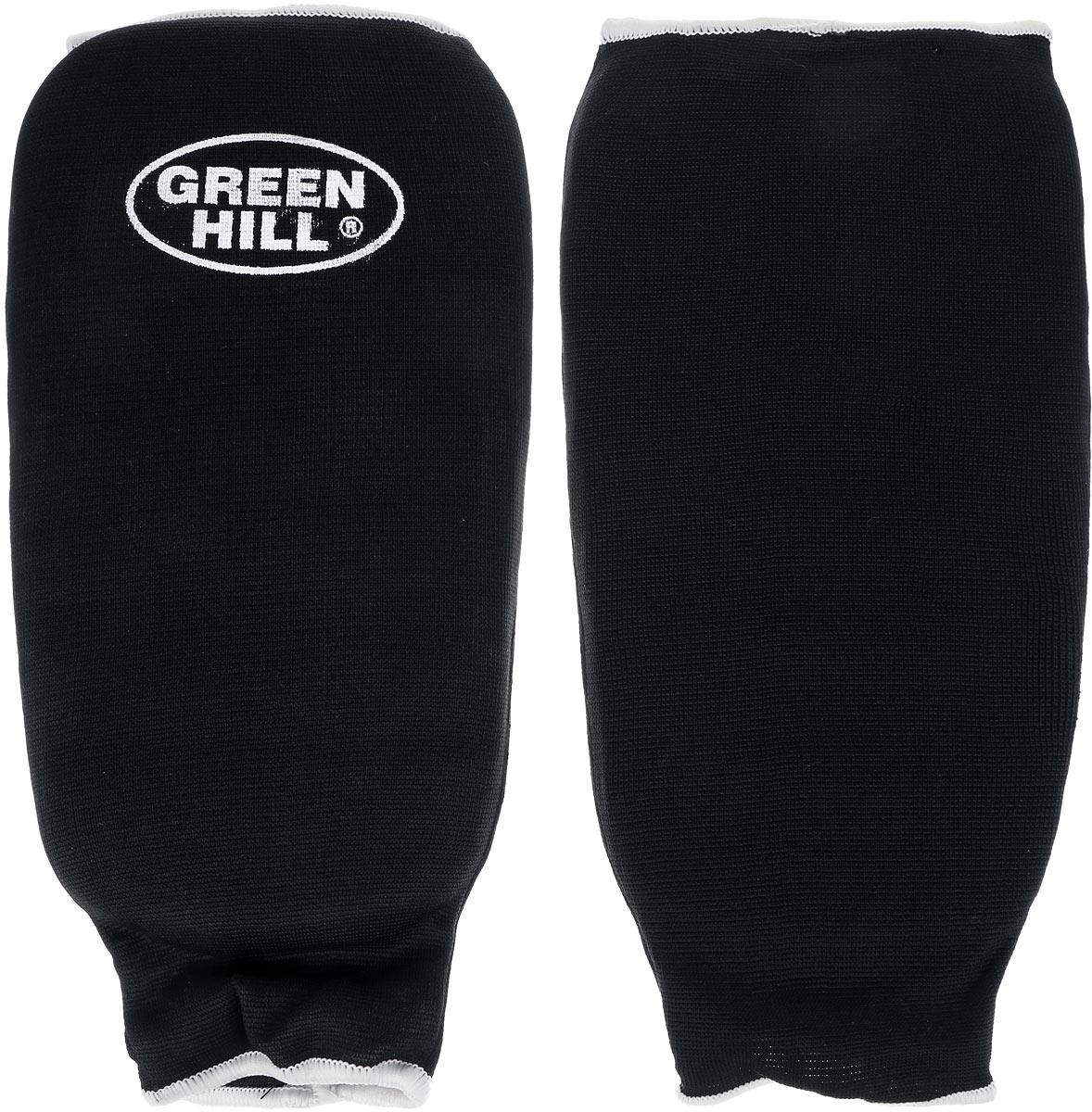 Защита голени  Green Hill , цвет: черный, белый. Размер M. SPC-6210 - Единоборства