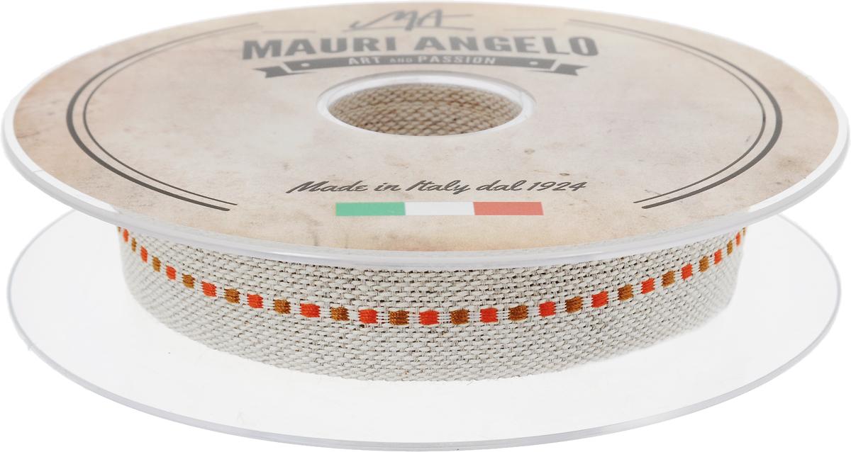 Лента декоративная Mauri Angelo, цвет: бежевый, коричневый, оранжевый, 2 см х 10 мMRTRA/20/2Декоративная кружевная лента Mauri Angelo выполнена из высококачественных материалов. Кружево применяется для отделки одежды, постельного белья, а также в оформлении интерьера, декоративных панно, скатертей, тюлей, покрывал. Главные особенности кружева - воздушность, тонкость, эластичность, узорность.Такая лента станет незаменимым элементом в создании рукотворного шедевра.