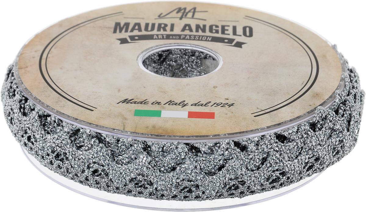Лента кружевная Mauri Angelo, цвет: серебристый, 1,8 см х 20 мMR2710/11Декоративная кружевная лента Mauri Angelo выполнена из высококачественного полиэстера с добавлением металлизированной нити и акрила. Кружево применяется для отделки одежды, постельного белья, а также в оформлении интерьера, декоративных панно, скатертей, тюлей, покрывал. Главные особенности кружева - воздушность, тонкость, эластичность, узорность.Такая лента станет незаменимым элементом в создании рукотворного шедевра.