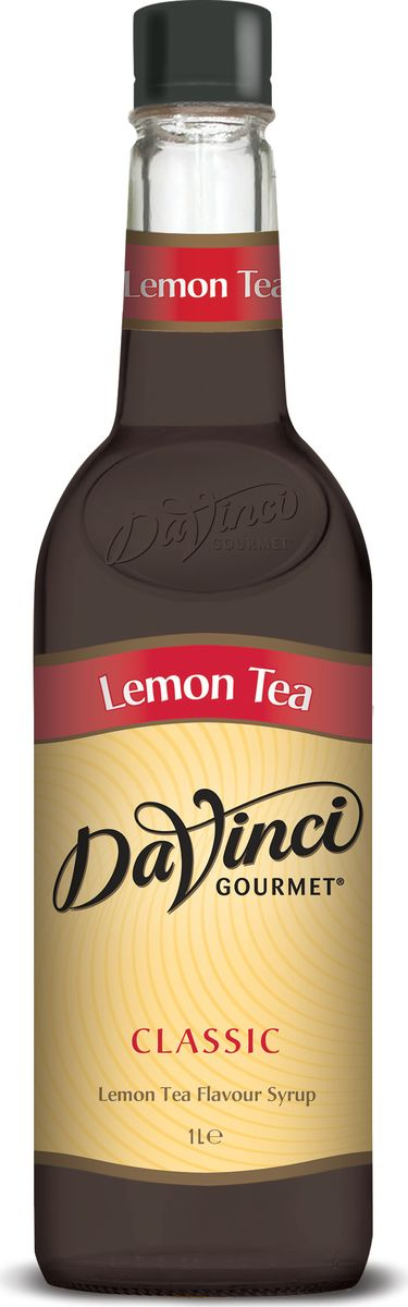 DaVinci Чай с лимоном сироп, 1 л20291515Сироп Da Vinci - безалкогольная добавка в чашку ароматного кофе, которая придется по вкусу любому сладкоежке. Натуральный продукт изготавливается из экологически чистых продуктов с применением современных технологий. Аромат черного чая с бергамотом, насыщенный, яркий вкус чая с лимоном.Сироп Da Vinci обладает уникальной способностью смягчать кислотность кофе и придавать ему особенную сладость