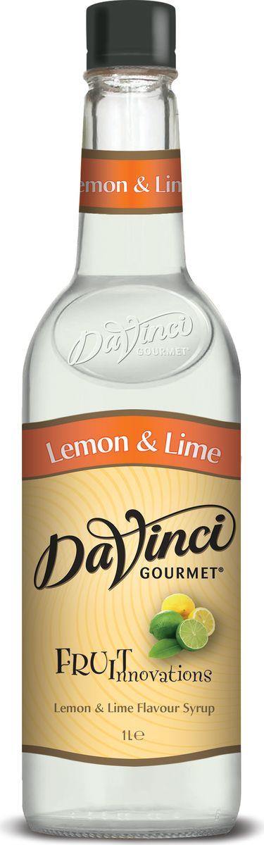 DaVinci Лимон и лайм сироп, 1 л20393761Сироп Da Vinci - безалкогольная добавка в чашку ароматного кофе, которая придется по вкусу любому сладкоежке. Натуральный продукт изготавливается из экологически чистых продуктов с применением современных технологий. В аромате слышна цедра лайма, во вкусе лайм, плавно переходящий в яркую кислинку лимона. Сироп Da Vinci обладает уникальной способностью смягчать кислотность кофе и придавать ему особенную сладость.