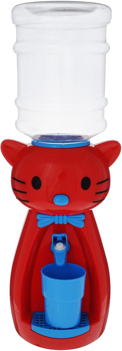Мини-кулер для воды и сока HITT Мультик. Китти, цвет: красный, голубой, 2 лН25200Детский мини-кулер HITT Мультик. Китти, выполненный из экологически чистого пластика, помогает ребёнку быть самостоятельным. Кроха с удовольствием будет наливать сок, воду или компот из кулера в небольшой стаканчик совсем как взрослый. Изделие легкое и компактное, поэтому его можно взять с собой на дачу или на пикник. А яркий дизайн, сочные цвета и весёлый персонаж гарантированно понравятся малышам.Ребенок станет потреблять больше жидкости. Вам не придется уговаривать его выпить молоко или компот.Стакан входит в комплект.Высота мини-кулера (с учетом бутылки): 49 см.Размер стаканчика: 6,5 х 5 х 8,5 см. Высота бутылки: 18 см.