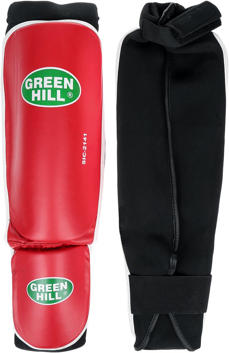Защита голени и стопы Green Hill Cover, цвет: красный, белый. Размер M. SIС-2141SIС-2141Защита голени и стопы Green Hill Cover с наполнителем, выполненным из полипропилена, необходима при занятиях спортом для защиты пальцев и суставов от вывихов, ушибов и прочих повреждений. Накладки выполнены из высококачественной искусственной кожи. Они прочно фиксируются за счет эластичной ленты и липучек.Длина голени: 29 см.Ширина голени: 15,5 см.Длина стопы: 15 см.Ширина стопы: 11,5 см.