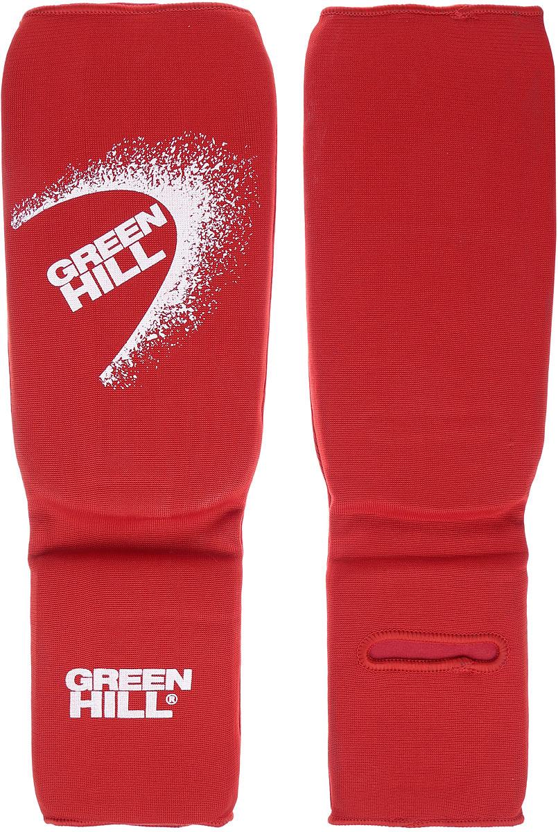 Защита голени и стопы Green Hill, цвет: красный, белый. Размер XL. SIC-6131 защита голени и стопы green hill цвет белый размер xl sis 0048