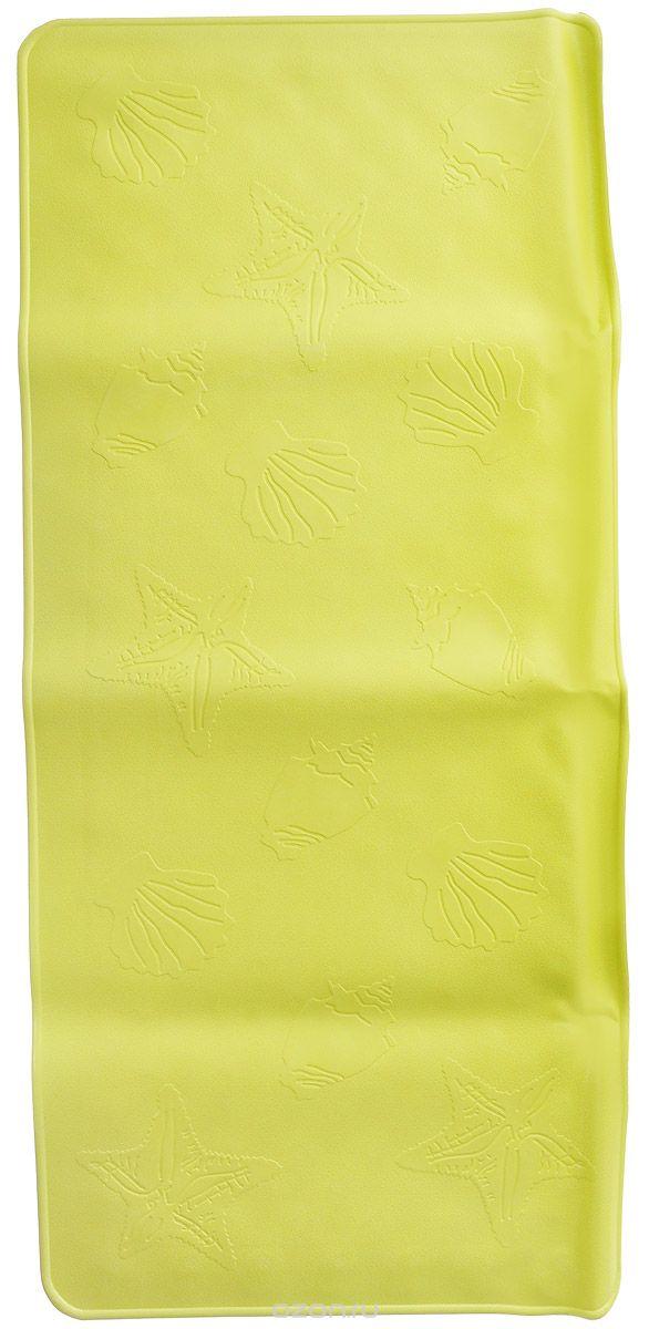 Roxy-kids Антискользящий коврик для ванны цвет салатовый 34 см х 74 смBM-3474_желтыйАнтискользящий коврик для ванны Roxy-kids создан специально для детей и призван обеспечить комфортное и безопасное купание малышей в ванне. Он обладает целым рядом важных преимуществ. Мягкие присоски надежно прикрепляют коврик ко дну ванны и не дают ему скользить по ее поверхности, как бы активно ни двигался малыш. Специальное покрытие препятствует скольжению ног или тела ребенка по коврику. Поверхность коврика имеет рельефные элементы, обеспечивающие массажные функции, благодаря которым купание малыша в ванне станет не только простым и безопасным, но еще и полезным! Специальные отверстия позволяют воде легко стекать и обеспечивают более надежное крепление коврика к поверхности ванны. Оптимальный размер коврика 34 см на 74 см делает его доступным для использования в любых ваннах, как в обычных больших, так и в детских ванночках и мини-бассейнах. Коврик выполнен в жизнерадостном салатовом цвете - он станет не только отличным помощником вам и вашему малышу, но и стильным аксессуаром! Антискользящие коврики для ванны сделаны из 100%-но натуральной резины без применения токсичного сырья. Резиновые коврики на присосках полностью соответствует всем требованиям безопасности детской продукции: ГОСТ 25779-90, СанПин 2.4.7.007-93, Европейским стандартам качества EN71.