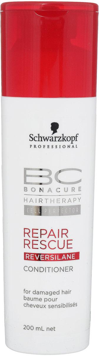 Bonacure Кондиционер для волос Спасительное Восстановление Repair Rescue Conditioner 200 мл2015294Насыщенный крем - кондиционер для поврежденных, тусклых, пористых и ломких волос. Высокоэффективнаяформула окутывает каждую прядь волос, разглаживая и запечатывая поверхность волоса. Повышаетэластичность, облегчает расчесывание, придает блеск. Рекомендуется использовать в комплексе с шампунем BCRepair Rescue.