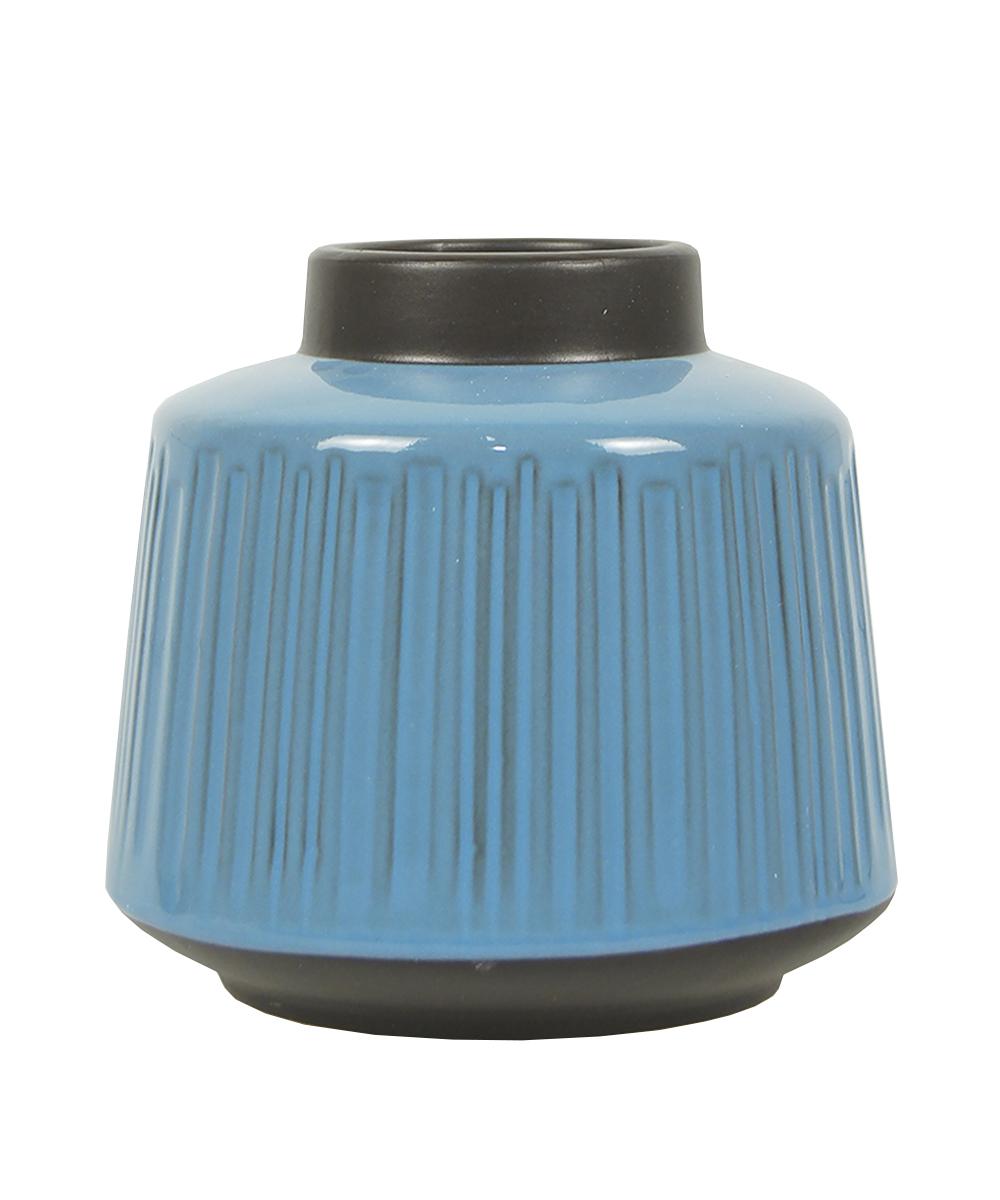 Ваза Этажерка Aquarelle, цвет: голубой, черный, высота 16 см ваза ninaglass дана цвет шоколад высота 16 см