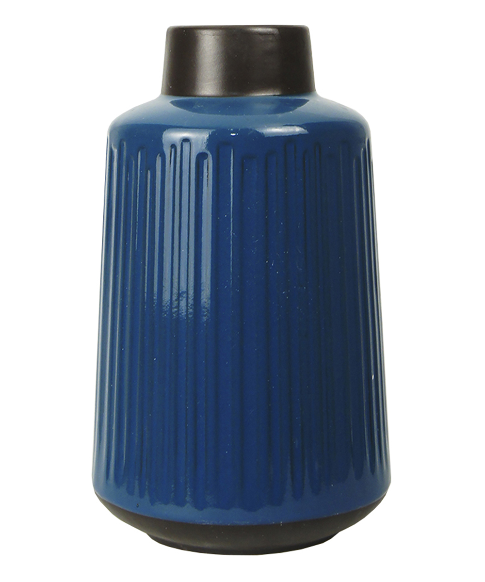 Ваза Этажерка Aquarelle, цвет: синий, черный, высота 30 см вазы ганг ваза helen цвет золотой черный 7х25 см