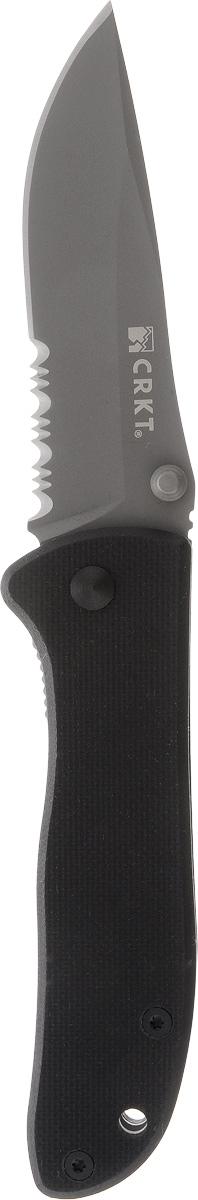 Нож складной Columbia River Drifter, цвет: черный, длина лезвия 7 см