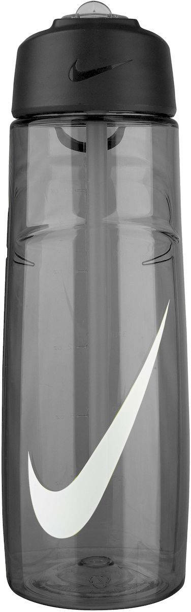 """Экологически чистая Бутылка для воды Nike """"T1 Flow Swoosh"""" обладает рядом преимуществ:  - Горлышко поднимается на 90 градусов, что обеспечивает простоту в использовании.  - Возможно мытье в посудомоечной машине, легко собирается и разбирается (инструкция прилагается).  - Без BPA, объем 709 мл.  - Технология материала Литой Tritan обеспечивает долговечность и ударопрочность."""
