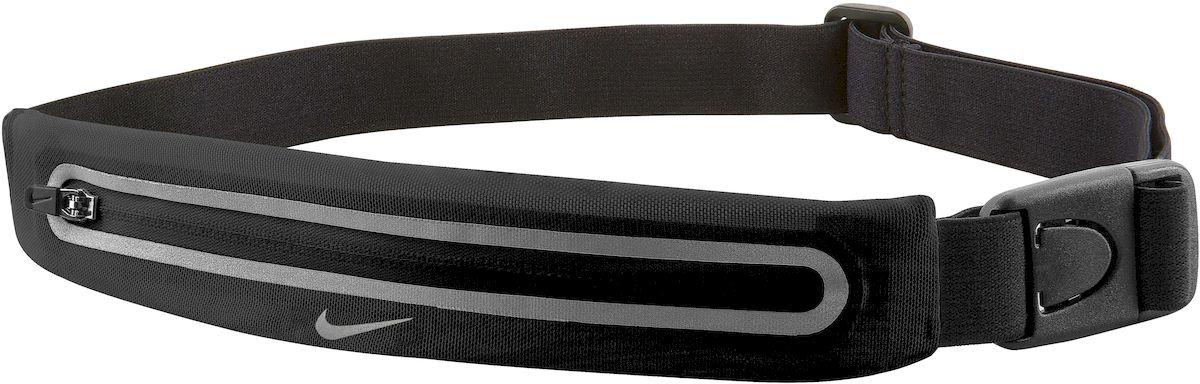 Сумка для бега Nike Lean Waistpack, цвет: черныйN.RL.46.022.OS- Регулируемый эластичный ремешок обеспечивает надежную комфортную посадку во время тренировки- Растяжимый эластичный сетчатый материал обеспечивает требуемое пространство для хранения- Низкая и надежная посадка предотвращает смещение- Застежка позволяет быстро снимать и одевать сумку- Светоотражающие детали повышают видимость при слабом освещении