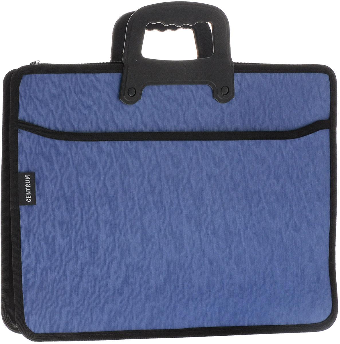Centrum Папка-портфель на молнии с ручкой цвет синий