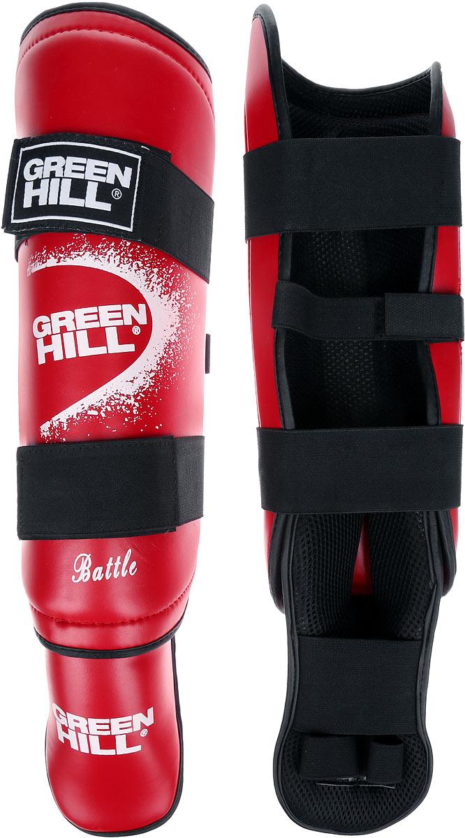 Защита голени и стопы Green Hill Battle, цвет: красный, белый. Размер XL. SIB-0014