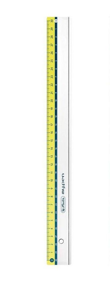 Herlitz Линейка My Pen цвет салатовый 30 см11367992_салатовыйЛинейка Herlitz My Pen с делениями на 30 см выполнена из прочного пластика,обладает четкой миллиметровой шкалой делений. Линейка удобна для измерениядлины и черчения. Подходит для правшей и левшей.