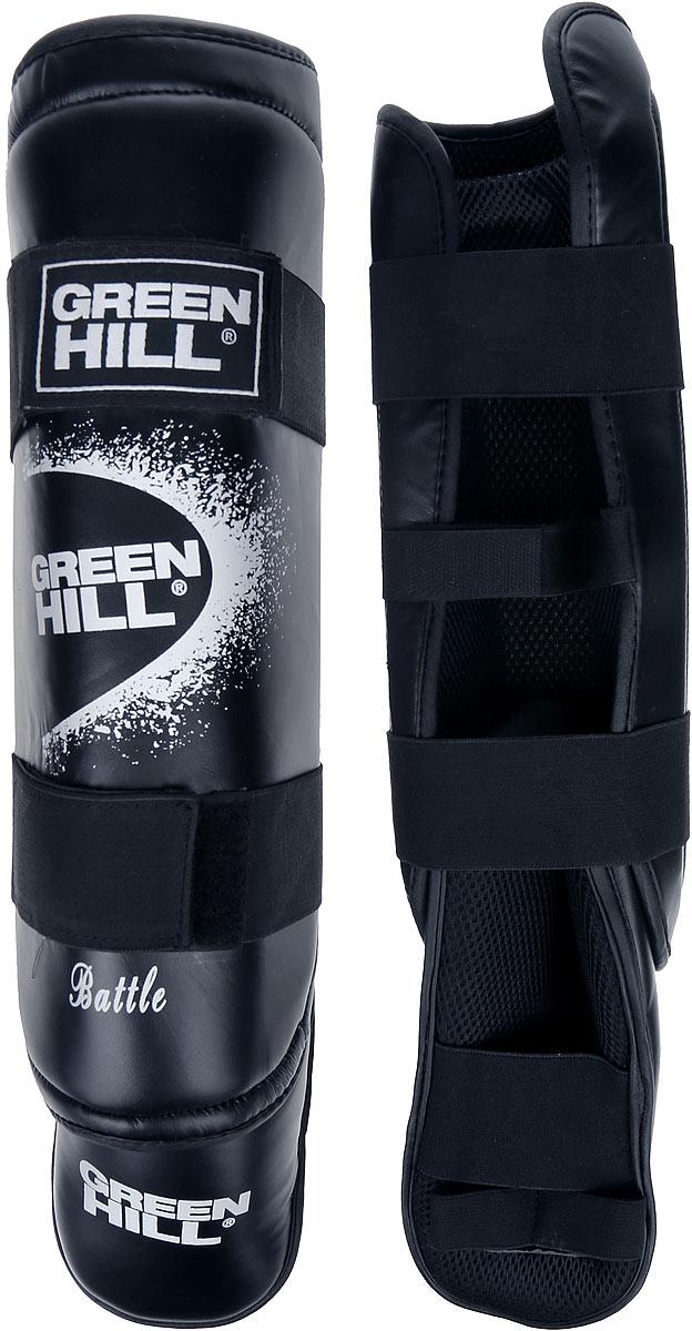 Защита голени и стопы Green Hill Battle, цвет: черный, белый. Размер XL. SIB-0014SIB-0014Защита голени и стопы Green Hill Battle с наполнителем, выполненным из вспененного полимера, необходима при занятиях спортом для защиты пальцев и суставов от вывихов, ушибов и прочих повреждений. Накладки выполнены из высококачественной искусственной кожи. Подкладка изготовлена из хлопка, внутренняя сторона выполнена в виде сетки. Они надежно фиксируются за счет ленты и липучек.При желании защиту голени можно отцепить от защиты стопы.Длина голени: 37 см.Ширина голени: 15 см.Длина стопы: 25 см.Ширина стопы: 13 см.