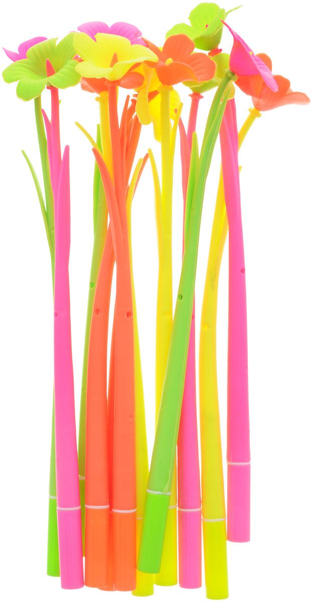 Эврика Ручки мягкие 12 шт 9619296192Оригинальные шариковые ручки выполнены из мягкого полимера в виде симпатичных цветочков. Ручки могут гнуться в разные стороны. Гибкие, удобные ручки с нескользящим корпусом, шариковым пишущим стержнем и удивительным флористическим дизайном вдохновят свежестью формы каждого обладателя. Ручки с синими чернилами и компактными пластиковыми колпачками. Такая ручка станет отличным подарком и незаменимым аксессуаром, она удивит и порадует получателя. Сотрудниц, родных, знакомых и любимых девушек можно радовать целыми букетами, составленными из ручек с разным декором. В наборе присутствуют ручки четырех цветов: розовый, желтый, оранжевый, салатовый.