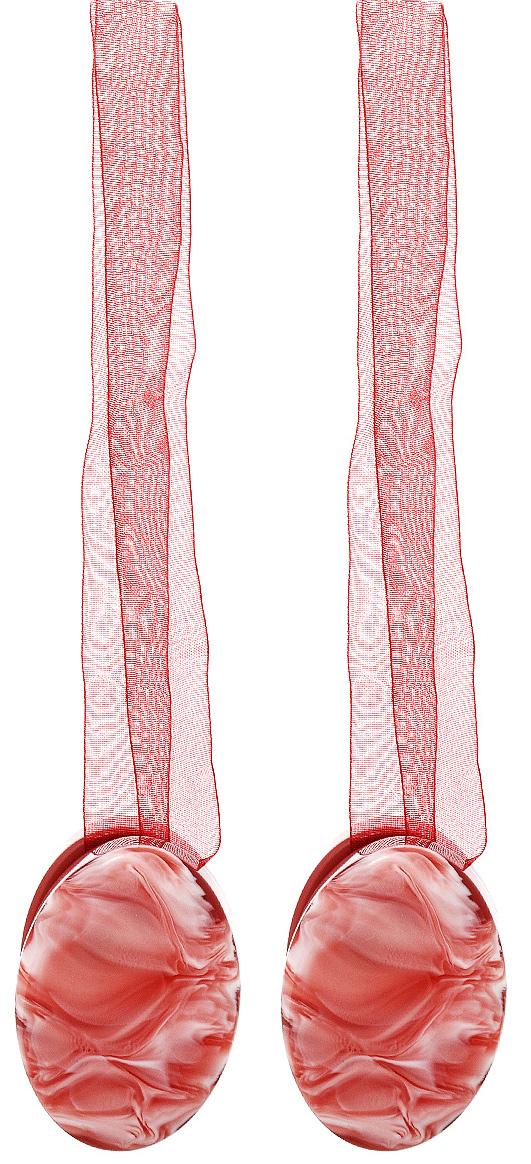 Клипса-магнит для штор Calamita Fiore, цвет: бордовый, 2 шт. 675265_633675265_633Клипса-магнит Calamita Fiore, изготовленная из пластика, предназначена для придания формы шторам. Изделие представляет собой два магнита овальной формы, расположенные на разных концах текстильной ленты. С помощью такой магнитной клипсы можно зафиксировать портьеры, придать им требуемое положение, сделать складки симметричными или приблизить портьеры, скрепить их. Клипсы для штор являются универсальным изделием, которое превосходно подойдет как для штор в детской комнате, так и для штор в гостиной. Следует отметить, что клипсы для штор выполняют не только практическую функцию, но также являются одной из основных деталей декора этого изделия, которая придает шторам восхитительный, стильный внешний вид. Материал: полиэстер, пластик, магнит.Длина клипсы: 5 см.; ширина 3,5 см.Длина ленты: 28 см.