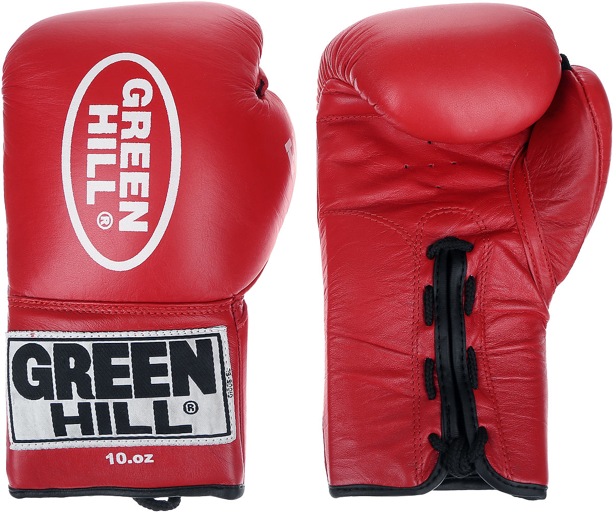 Перчатки боксерские Green Hill Supreme, цвет: красный, белый. Вес 10 унций. BGS-2111