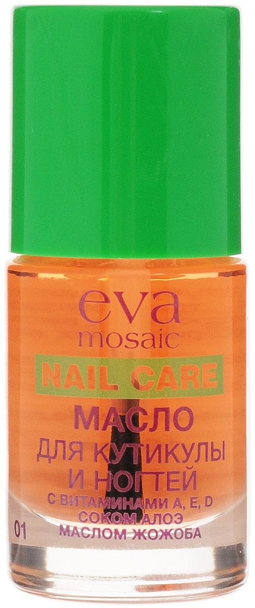 Eva Mosaic Масло для кутикулы и ногтей увлажняющее с витамином E, 10 мл