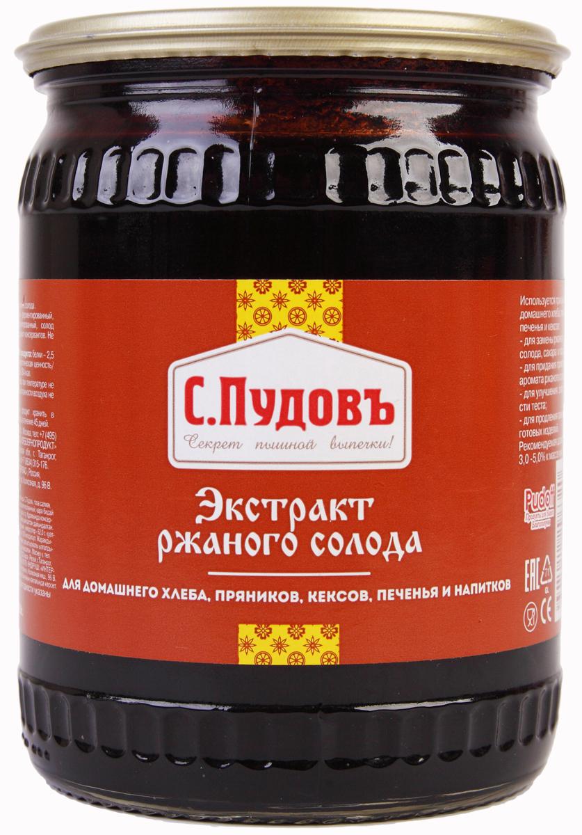 Пудовъ экстракт ржаного солода, 650 г пудовъ мука ржаная обдирная 1 кг