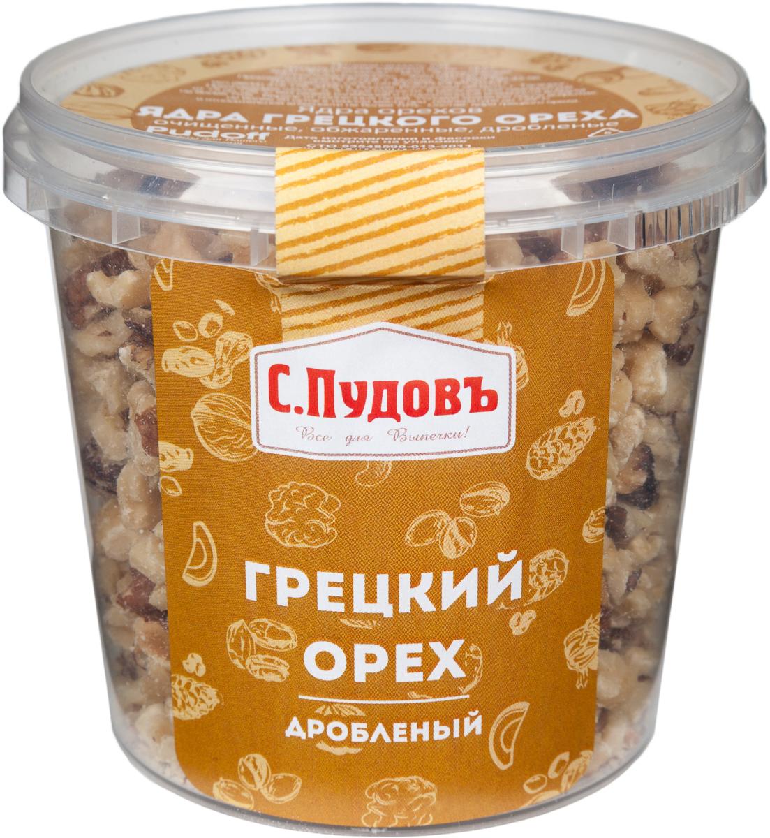 Пудовъ грецкий орех дробленый, 180 г пудовъ льняной хлеб 500 г