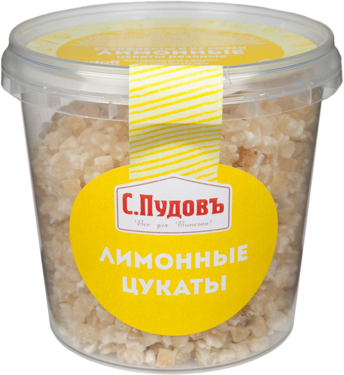 Пудовъ лимонные цукаты, 230 г4607012297532Эфирное масло, которое содержится в цукатах, оказывает тонизирующее действие, повышает настроение, способствует приливу сил для выполнения работы. А сахар обеспечивает организм энергией, необходимой чтобы эту работу выполнить. Их можно добавлять в десерты и выпечку.Уважаемые клиенты! Обращаем ваше внимание, что полный перечень состава продукта представлен на дополнительном изображении.