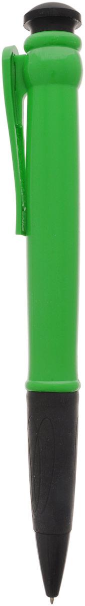 Эврика Ручка шариковая цвет корпуса зеленый 28,5 см96080Огромная шариковая ручка Эврика поразит воображение любого, кто увидит ее впервые. Ручка автоматическая, имеет сменный стержень с чернилами и клип, все как у ее настоящих младших собратьев.Оригинальную ручку можно использовать для подписания шуточных документов, участия в конкурсах и просто в качестве удивительного сувенира. Несмотря на ее большие размеры, писать такой ручкой довольно удобно.