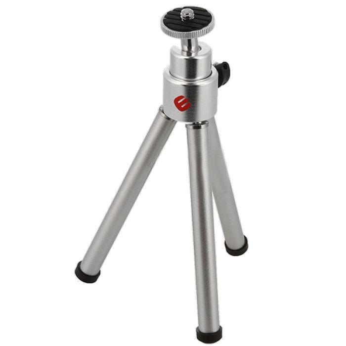 Era ECP-0050 штативECP-0050Мини-штатив Era ECP-0050 предназначена для камер небольшого размера. Максимальнаянагрузка на платформу не превышает 800 г. Era ECP-0050 устанавливается на три опоры спрорезиненными накладками на основаниях ножек. Фотокамера крепится при помощивинтового адаптера 1/4 дюйма. Тренога оснащена шаровой головкой, позволяющейманеврировать камерой при настройке ее положения. В рабочем состоянии высота штативасоставляет 14 см. Тренога выполнена из металла серебристого цвета. Минимальная рабочая высота: 14 см. Максимальная рабочая высота: 14 см. Высота в сложенном состоянии: 15 см.