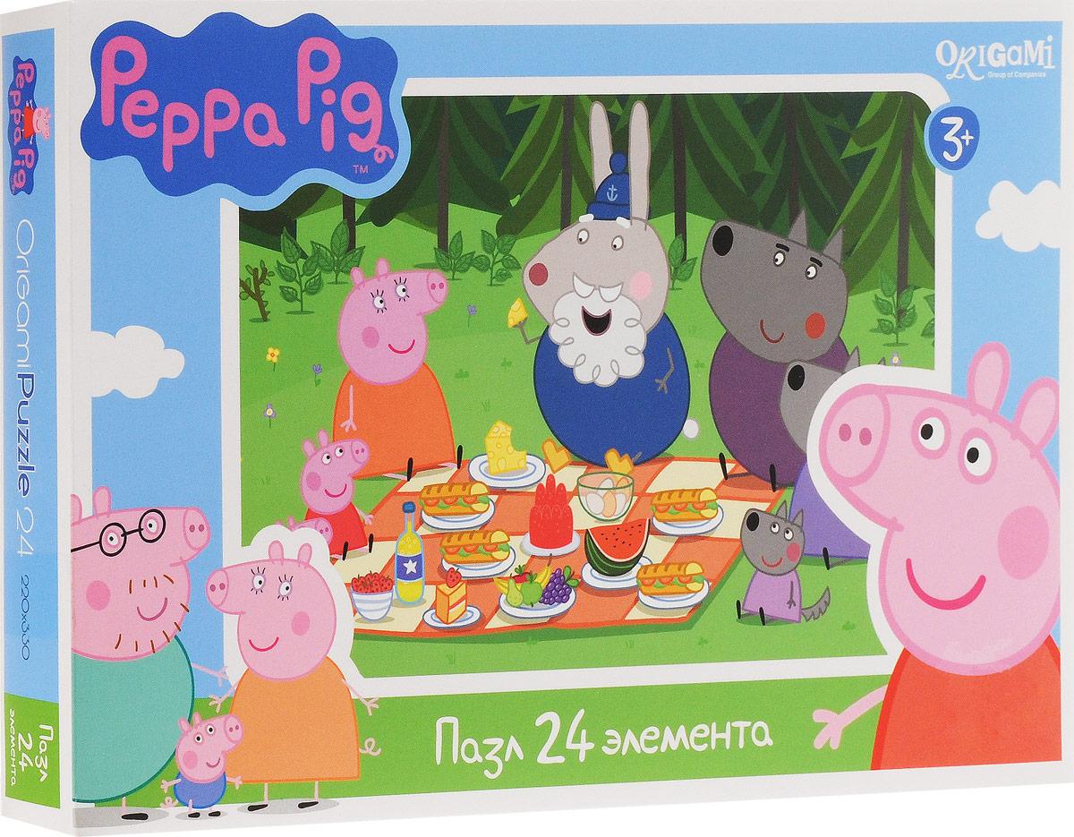 Оригами Пазл для малышей Peppa Pig Пикник в лесу пазл origami 01569 peppa pig 24эл