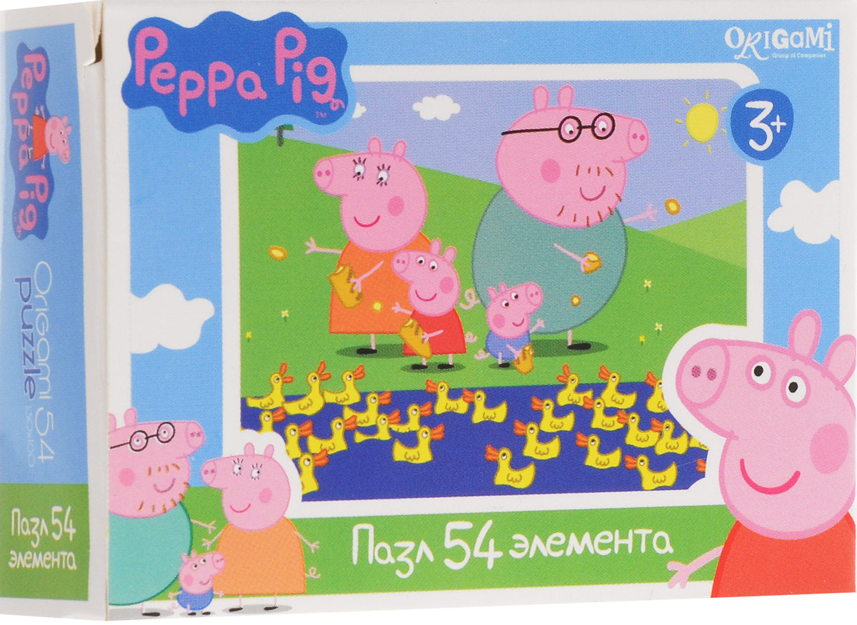 Оригами Пазл для малышей Peppa Pig Уточки пазл origami peppa pig транспорт 4 в 1