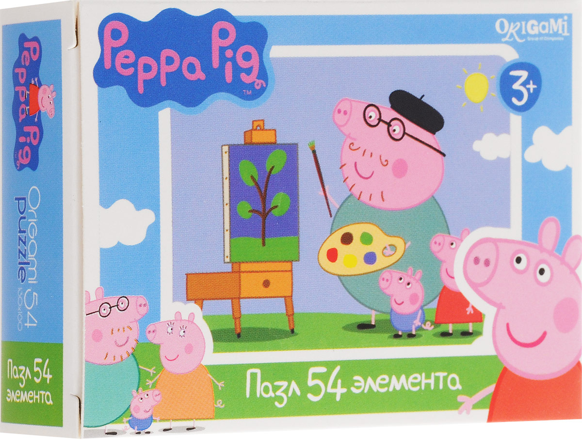 Оригами Пазл для малышей Peppa Pig Художник пазл origami peppa pig транспорт 4 в 1