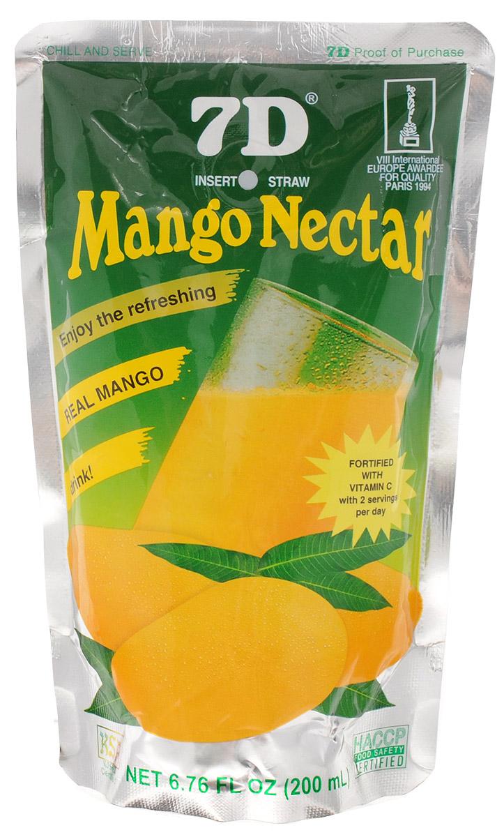 7D Нектар из манго, 200 мл11136792Нектар манго 7D - свежий ароматный напиток, обладающий приятным вкусом и легкой консистенцией. Нектар манго дарит настроение и заряд бодрости на целый день. Кроме того, помогает в борьбе с отеками, улучшает обмен веществ и укрепляет иммунитет. А разве не это так необходимо нашему организму долгой русской зимой!Нектар манго изготавливается из пюре спелых плодов с добавлением воды и сахара. Никаких химических соединений в стакане ароматного напитка вы не найдете. Только натуральная свежесть и солнечное настроение. А еще вы можете приготовить огромное количество прохладительных напитков и коктейлей на основе нектара манго.Уважаемые клиенты! Обращаем ваше внимание, что полный перечень состава продукта представлен на дополнительном изображении.